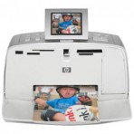 HP Photosmart 375B Compact Photo Printer with internal battery